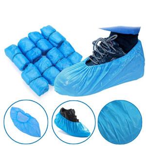 100-1000 PCS PE Shoe Cover Blue Disposable Convenient And Comfortable Model House High Quality Shoe Covers