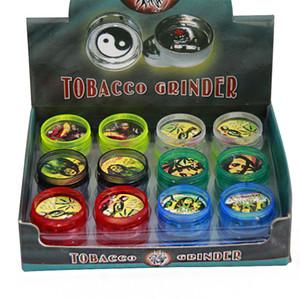 30 millimetri di plastica acrilica Herb Grinder con il magnete a secco Herb BOB MARLEY erbe Tabacco Erbe fumatori maniglia fumo Crusher Spice Mill