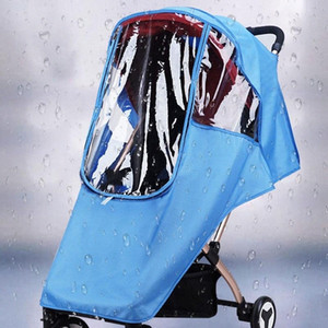Universal Baby Accessories Stroller Rain Cover Transparent Warm Rain-Proof Windshield High Quality Stroller Raincoat AHJx#
