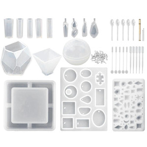 15 Pcs (65 Shapes) Silicone Resin Molds And 118 Tools For Epoxy Resin, Uv Resin, Making Including Pendant Jewelry Ashtray Earrin