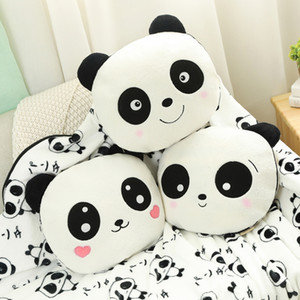 30cm Cute Panda with Blanket Plush Pillow Soft Stuffed Cartoon Animal Panda Doll Sleeping Pillow Cushion Baby Girlfriend Gift
