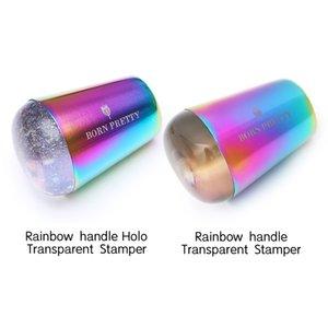 Lidar com prego transparente Stamper para carimbar Placa Holographics Limpar Stamper Cabeça Nail Art Templates252