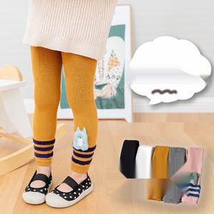 20 automne hiver nouveau pantalon peignée point leggings longueur cheville neuf enfants de coton collants de bande dessinée Pantyhose pantyhosecute littlegirl af
