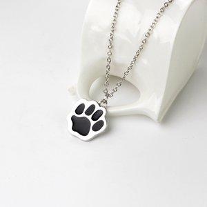 chien mignon griffe collier pendentif couleur argent longue chaîne Bijoux Colliers en cadeau Collier ras du cou