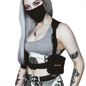 Punk Chest Bag For Women Hip Hop Tactical Streetwear Style Waist Pack Men Outdoor Shoulder Holsters Sling Sidebags G174