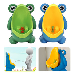 New Arrival Baby Boy Potty Toilet Training Frog Children Stand Vertical Urinal Boys Pee Infant Toddler Wall-Mounted 201117
