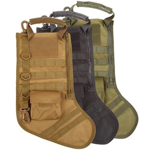 Hot Hanging Tactical Molle Christmas Stocking Bag Dump Drop Pouch Utility Storage Bag Combat Hunting Pack Outdoor Boots Magazine Pouches XW2