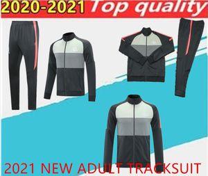 2021 adult track suit tights trainers sportswear men tracksuit full zipper training jacket set
