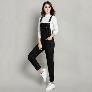6XL-7XL-8XL Artı Boyutu 300 Pound Yağ MM Kot Retro Yıkanmış Denim Sapanlar Tulum Pantolon kadın Bib Pantolon Denim Tulum Y4031