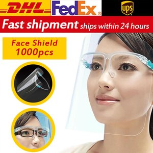 Dhl Fedex Unisex Clear Glasses Frame Face Shield Fog Kitchen Mask Splash Proof Safety Glasses Protective Guard sqctrw homecart