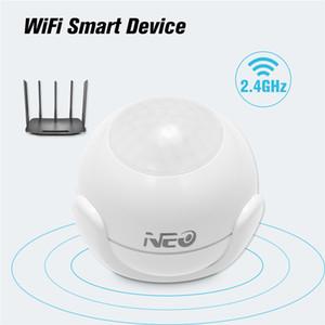 Neo Coolcam Smart WiFi Pir Détecteur d'alarme de mouvement de mouvement intégré Batterie pour Automatisation de la maison intelligente