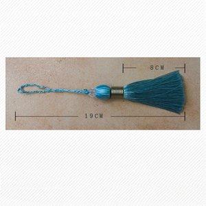 Großhandel 12pcs los 8 cm Ball Quaste mit hängendem Seil Seide Nähen Quaste Trim Dekorative Schlüssel Quaste für Vorhang Home Decoration H Jllorv