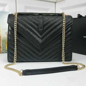 Newset Donne Cluth Borse portafoglio catena reale del cuoio della carta Crossbody borsa donne spalla accessori Messenger Flap Handbag pasto con lunga shou
