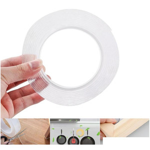 1 2 3 5m reusable double-sided adhesive nano traceless tape removable sticker washable adhesive tape wholesale QVmNL