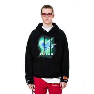 Fashion men's sweater ins net star HP crane digital printing Hoodie LUGO