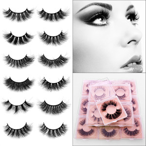 25mm 100% handmade natural thick Eye lashes wispy makeup extention tools 3D mink hair volume soft false eyelashes makeup tools
