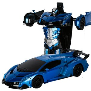 Hipac 114 Rc Car Police Transformation Robots Vehicle Model Robots Toys Deformation Remote Control Car Kids Toys Gifts For Boys wmteKl