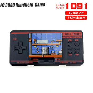 New Handheld Game Console Video Gaming Portable Console 2G Memory Simulator FC3000 Handheld Support 8 Formats Game AV Out Put1