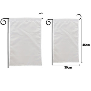 300pcs 2020 sublimation Blank Garden Flag American Garden Flags heat tranfer printing Garden Banner blank banners size 30*45cm
