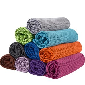 Ice Cold Towel Cooling Summer Sunstroke Sports Exercise Cool Quick Dry Soft Breathable Cooling Towel 10colors OWE1984