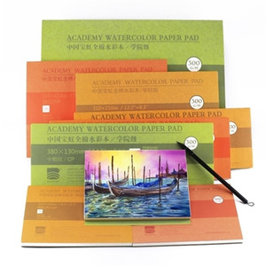 Barteen 100% Cotton Professional Watercolor Paper 20Sheets Hand Painted 300gsm Watercolor Book for Artist Student Supplies 201225