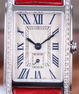 8848F montre de luxe Kadınlar Saatler elmas izle 20.8mmX32mm L178.2 kuvars hareketi timsah derisi watchband