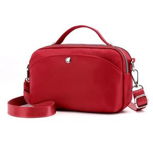 Passeggiata da donna a spalla da donna Borsa a tracolla in nylon Wit Pack Bag Hip Bum con 3 tasche con cerniera per all'aperto Viaggio Casual Running