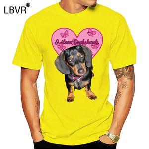 Такса I Love Такса Выбор размера цветы! балахон дизайнеры футболки толстовки