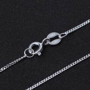 Real 925 Sterling Silver Necklace Fine Jewelry 18K Gold Classic Easy Match Chain without Pendant for Women Accessories