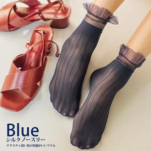 4 paia Vendita calda giapponese di alta qualità donne calze di velluto calzini femminili calze estive sottili seta trasparente caviglia sottile sox pizzo da donna