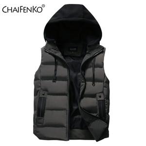 Chaifenko-Chaleco impermeabile Con capucha Hombre, Chaqueta de invierno, clido, Sin Mangas, informale, Grueso, Para Otoo