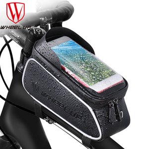 WHEEL UP Mountain Bike Waterproof Mobile Phone Holder Case Front Tube Bag Cycling Rainproof Pack Bicycle Accessories