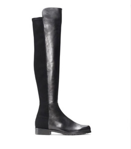 Paris classique 5050 élastique Bottes New femmes talon 2.5cm Automne et Hiver Chaussures en cuir Slim avec les jambes longues Slim haut bottes Filles