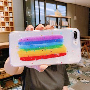 Soft Transparent Phone Case For IPhone 11 Pro Max Case Silicone Cute Glitter Rainbow Star Cover for IPhone XR XS Max 6S 7 8 Plus Case