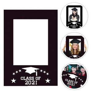 1pc 2021 Graduation Paper Photo Frame Festival Photo Props Party Supply