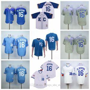 NCAA Customized S-3XL Kansas City Baseball Royals BP Baseball 1985 1980 1987 Retirne 16 BO Jackson Jersey FlexBase Cool Base Jersey 06 04