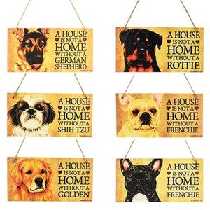 1pcs Tags Rectangular Wooden Pet Tag Dog Accessories Lovely Friendship Animal Sign Plaques Rustic Wall Decor Home Decoration