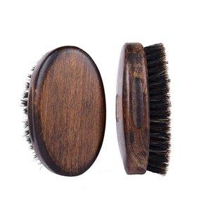 Antico Ellisse Forma Brush Brush Brush Setole in legno Uomo Spazzole da barba Multi Funzione Strumenti di disposizione pulita Home 8 5HF N2
