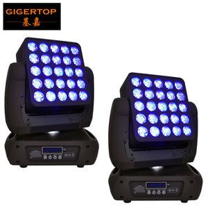 Freeshipping 2 Einheit 25x12W Led Moving Head Matrix-Licht führte Individuelle Steuerung Bühne Washer-Effekt RGBW 4IN1 Farbe 19/29 / 117CH