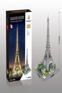 ly_bags مشاهير العالم الحديث العمارة المناظر الطبيعية مايكرو الماس كتلة البناء وبرج ايفل باريس فرنسا ريك نموذج لعبة yxlRjD