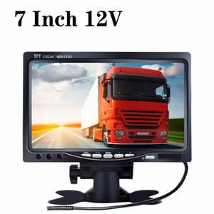 7 Exibe Inch 12V 4 Dividir Quad vídeo + Automatic Identificar Input TFT Signal Monitor LCD Car com stand-alone Headrest DPPY #