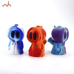 Diseño Ghost Unique Shisha Silicone Máscara de silicona Bubbler Hookah Fumar Pipe Bong Mini Tube Fumar para Stoner W1