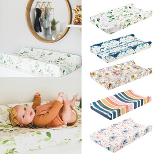 Newborns Baby Nursery Diaper Changing Pad Cover Changing Mat Cover Breathable Cotton Fitted Changing Table Bassinet Sheet#p4 C1008