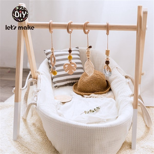 Wooden Play Gym Toys Nordic Baby Decor Wood Nursery Sensory Toy Gift Infant Room Clothes Rack Accessories Rattles 201224