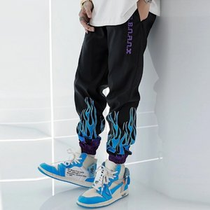 Summer Streetwear Overalls Sweatpants Men Korean Harajuku Pants Elastic Waist Cargo Pants Men Hip Hop Trouser Pantalones 201110