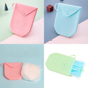 Silicone Storage Box Plastic Mask Container Portable Face Masks Case Organizer Various Colors Prevention Of Pollution Dustproof 13 09dx D2