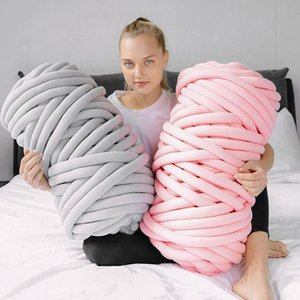 2021 Ins coarse wool ohhio filling cotton hand knitting washable woolen knitting blanket customized wool ball
