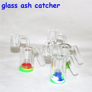 glass Bong Thick Glass ash catcher Bongs 14mm quartz nail Matrix perc Heady 8inch Dab Oil Rigs With 14mm glass oil burner pipes