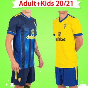 Kit adulte Nouveau 2020 2021 Cadiz Soccer Jerseys Mans Sets 20 21 Alex Lozano Nano Nano Alejo Mari Perea Salvi Mens de football