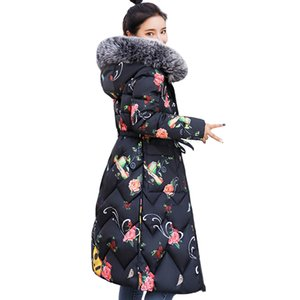 High Quality Women Winter jacket Double Two Sides Printing Ladies Coat Cotton Padded Warm Slim Female Parka 201014